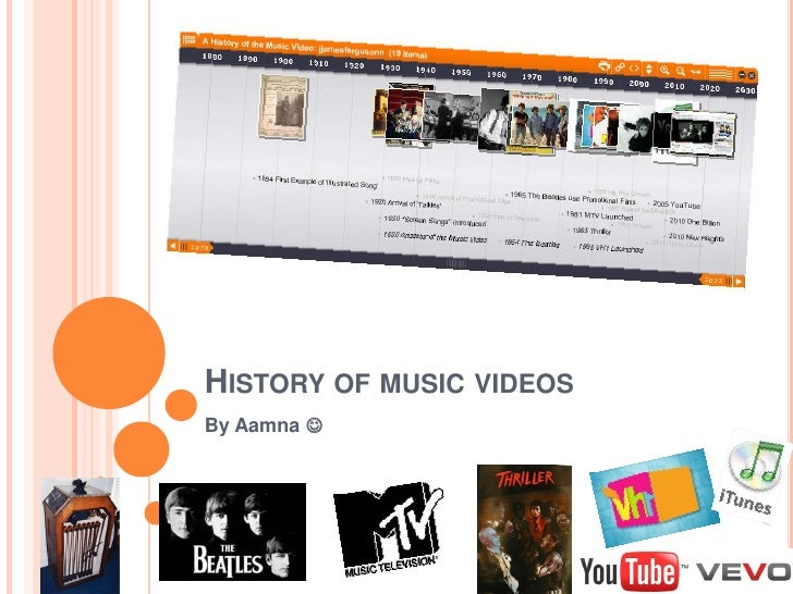 HISTORY OF MUSIC VIDEOSBy Aamna 