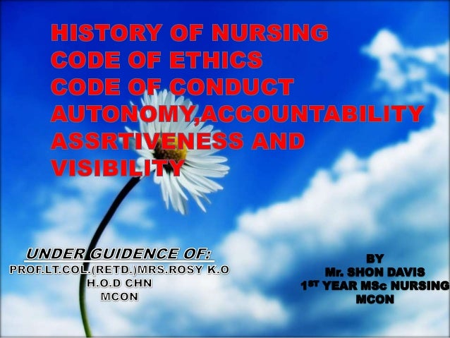BY      Mr. SHON DAVIS1ST   YEAR MSc NURSING           MCON