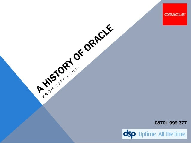 A History of Oracle Corporation
