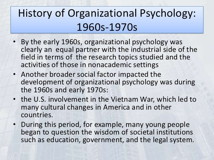 Organizational Psychology subjects to study law