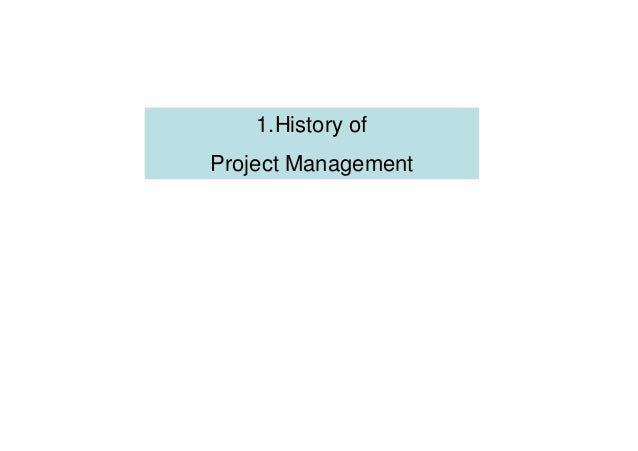 History of project management psdi 198x