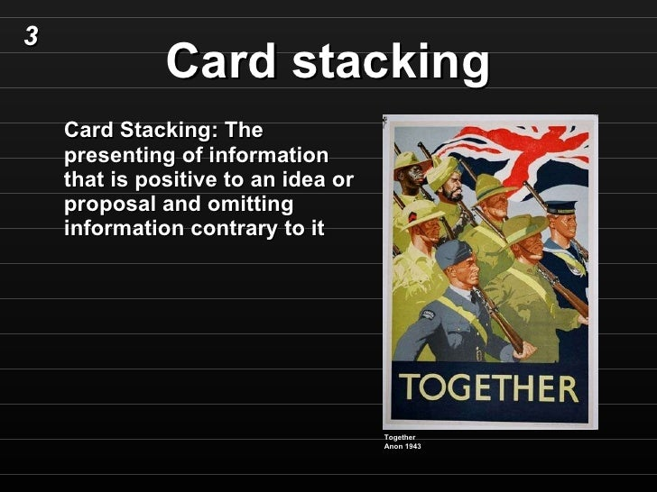 Gallery For gt Card Stacking Examples Propaganda