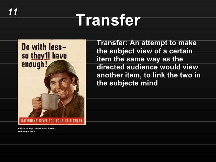 Image Result For Transfer Propaganda Definition
