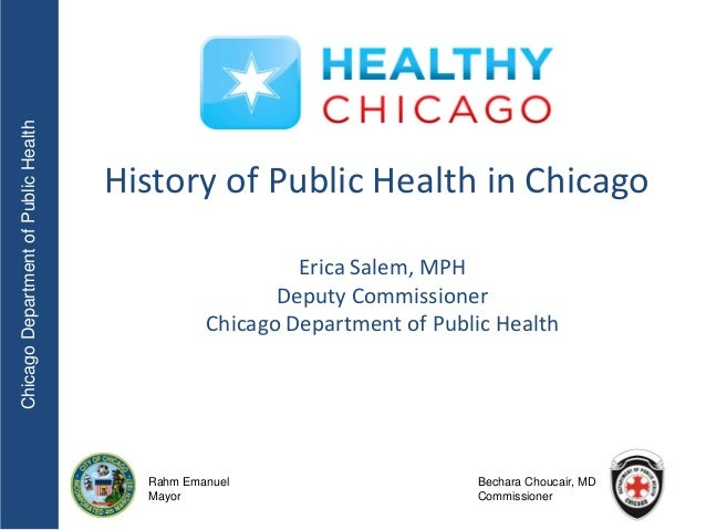 Chicago Department of Public Health                                      History of Public Health in Chicago              ...