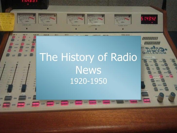 History of radio news