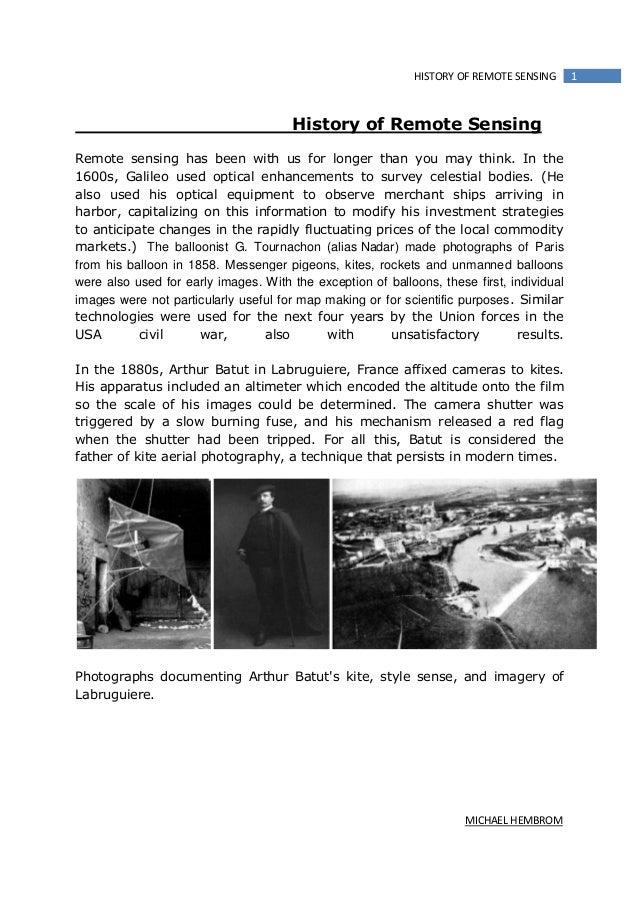 History of remote sensing
