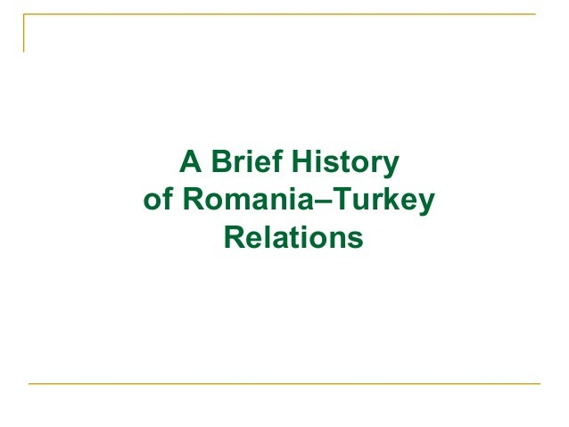History of romanian  turkish relations