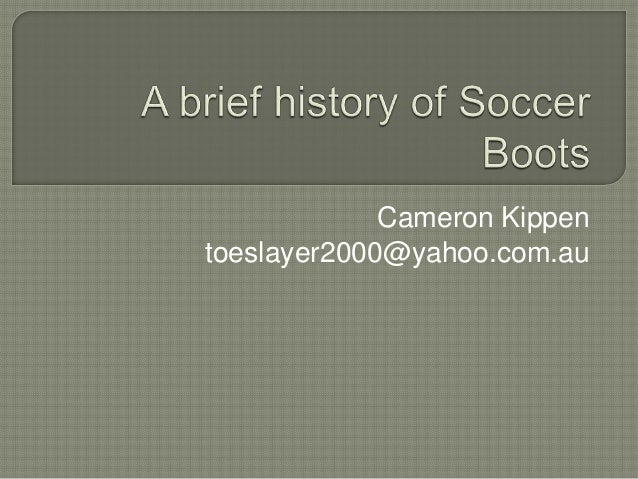 History of soccer boots