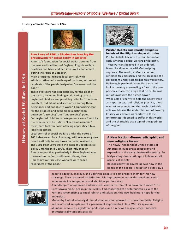 History of social welfare social work