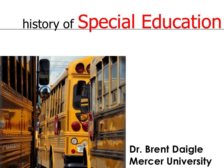 essays on history of special education