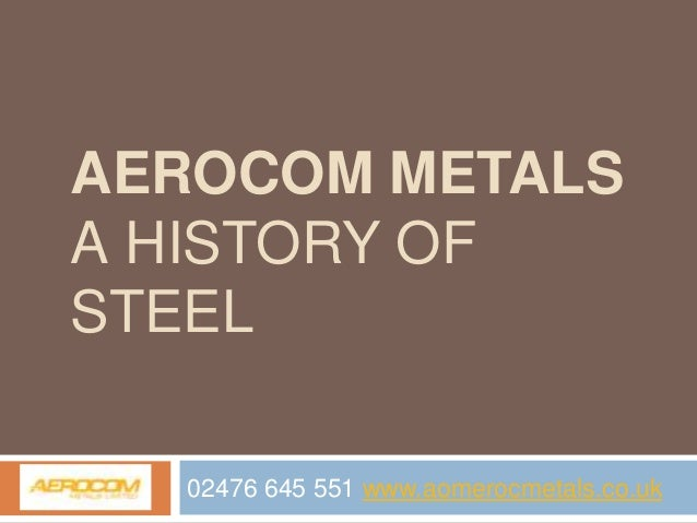 The History of Steel