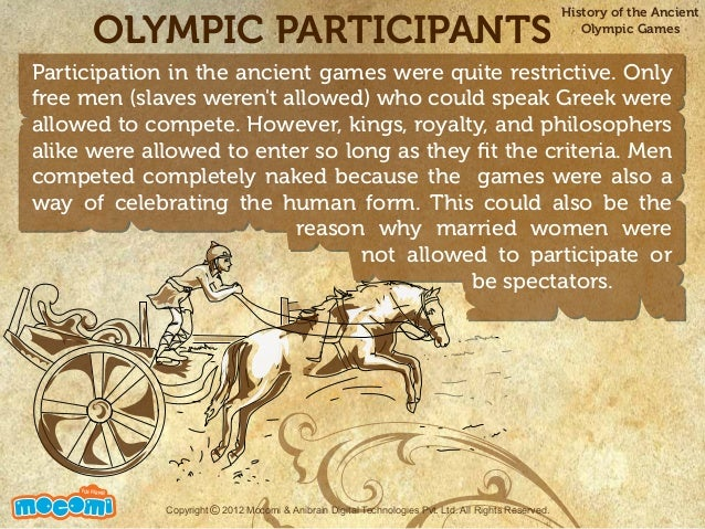 a history of olympic games as the greatest sports event in the world and the way greek people used g The olympic games is the international sports event because of the diversity of the sports, the number of faiths represented, the number of countries participating, said anthony moretti, an.