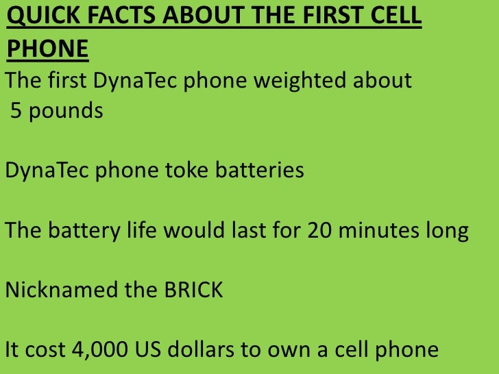 an introduction to the history of the cell phones Doing a research essay on history of cell phones  i am starting to late to do a good job of giving a speach about the history of the cell phones, at my.