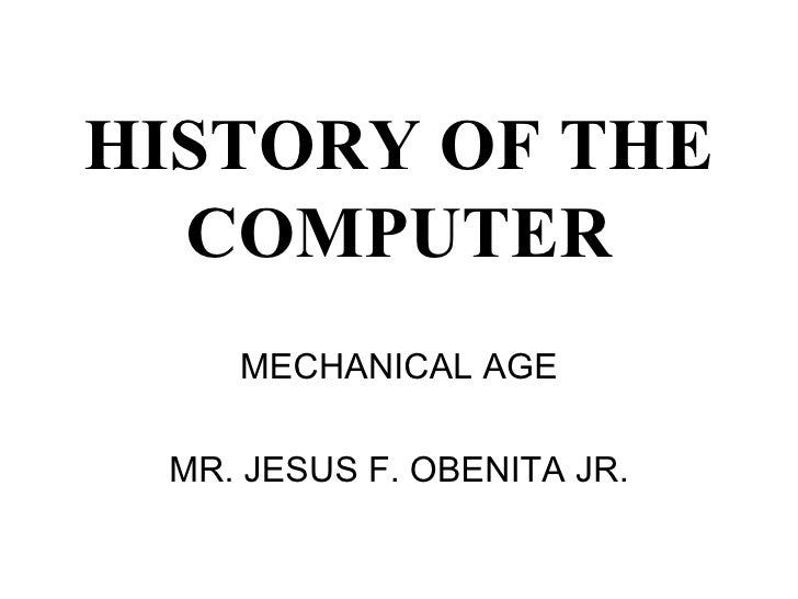 History of the computer (mechanical age)
