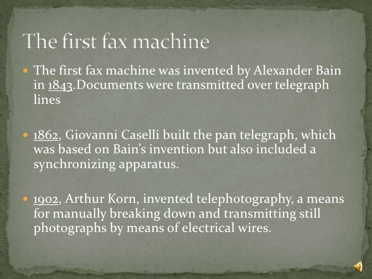 invention of fax machine
