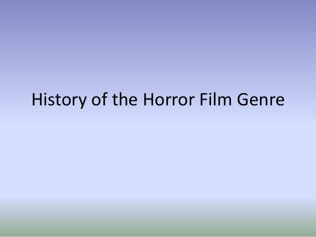 History of the horror film genre