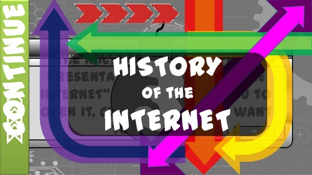 """The Microsoft Powerpoint Presentation """"HISTORY OF THE INTERNET"""" is waiting for you to open it. Click """"Yes"""" if you want to ..."""