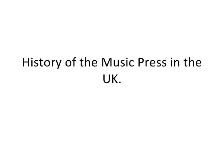 History of the Music Press in the UK.