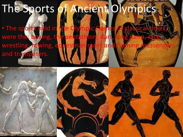 the description of the ancient olympics Top 6 differences between the ancient and modern olympics the ancient olympic games were held as a religious event to the olympic games only open to people of.