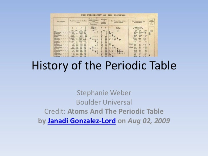 development of the periodic table essay