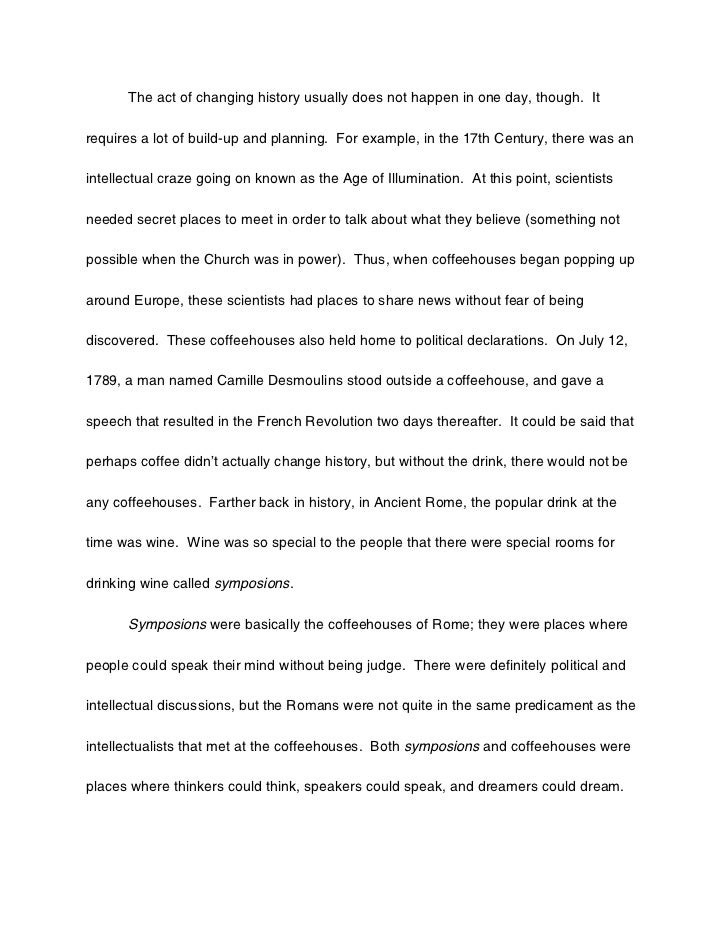 How can i change the world essay