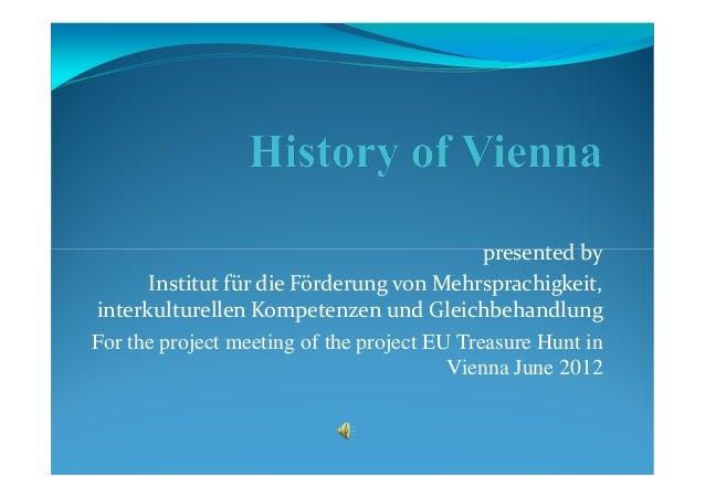 History of Vienna - IFMIK