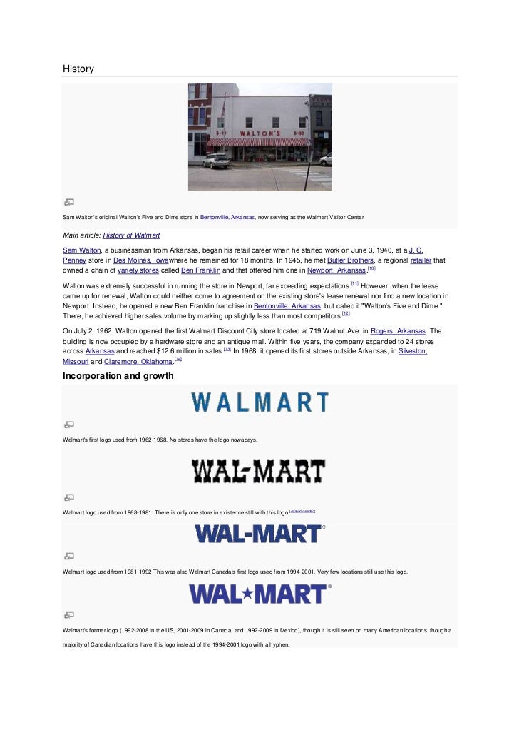An Analysis of the Success of Wal-Mart By Sam Walton