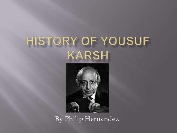History of yousuf karsh