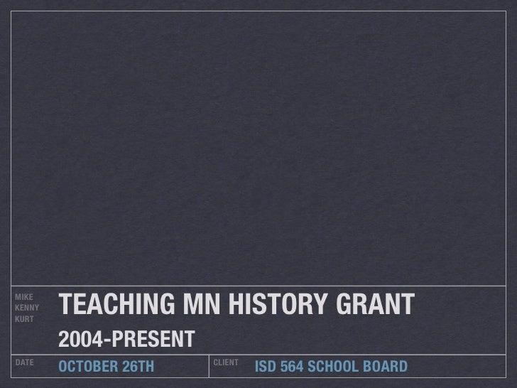 History Presentation