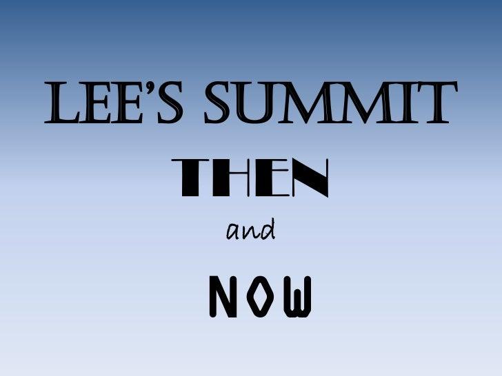 History of Lee's Summit