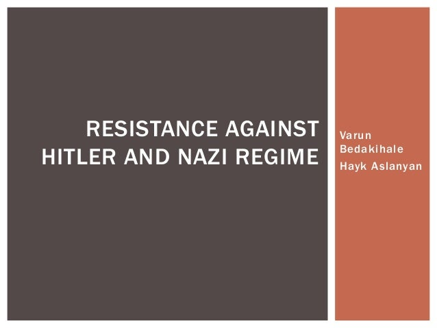 Resistance against Nazi Germany