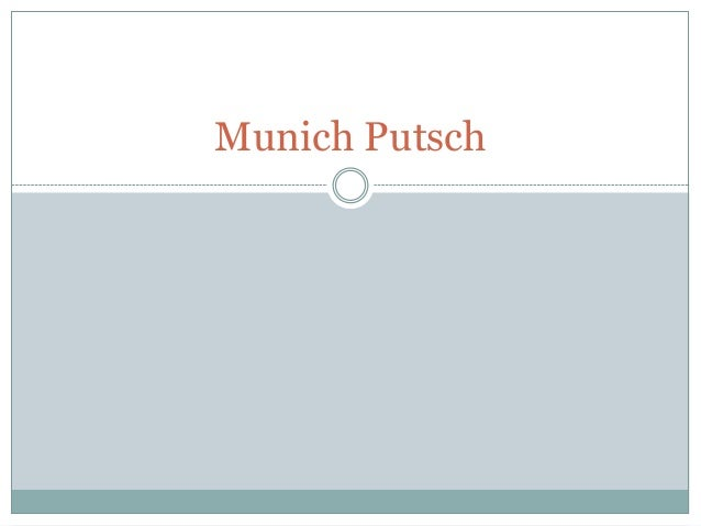 History - the munich putsch of 1923 (from bbc history)