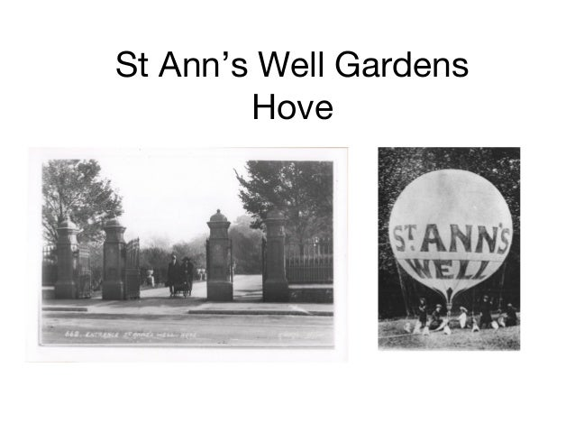 History of St Anns Well's Gardens, Hove
