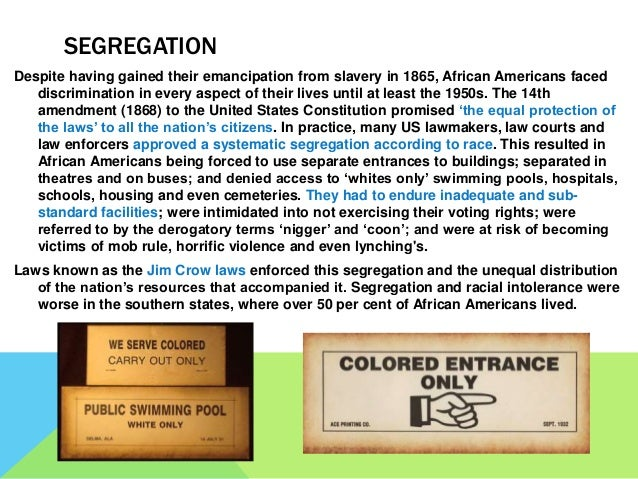 emancipation from segregation