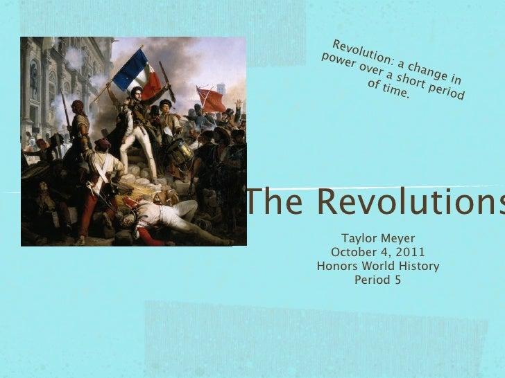 The Revolution Vocab