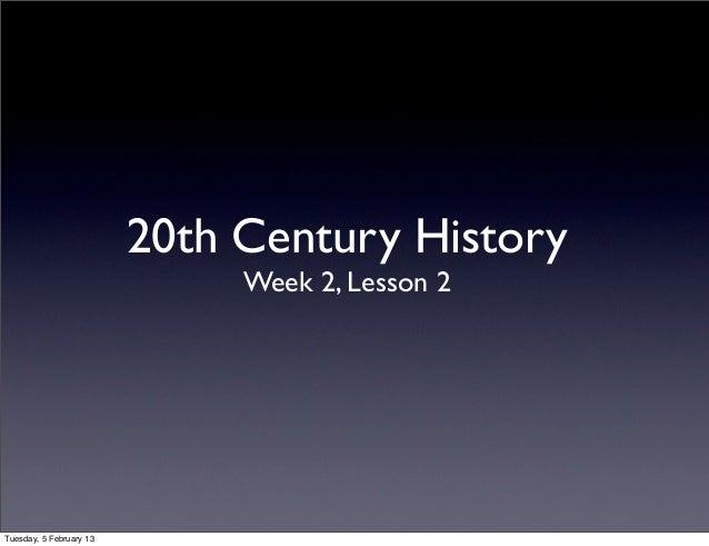 History w2l2