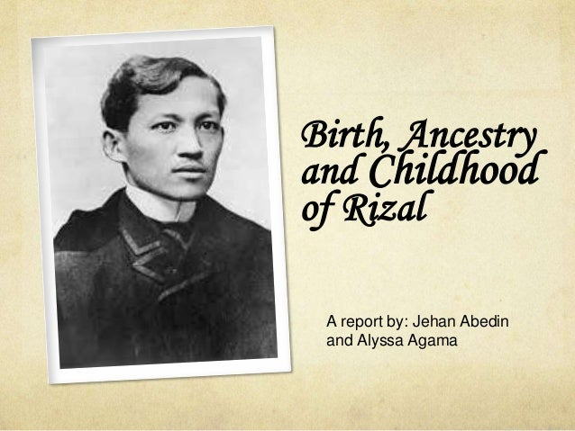 early childhood of jose rizal pdf