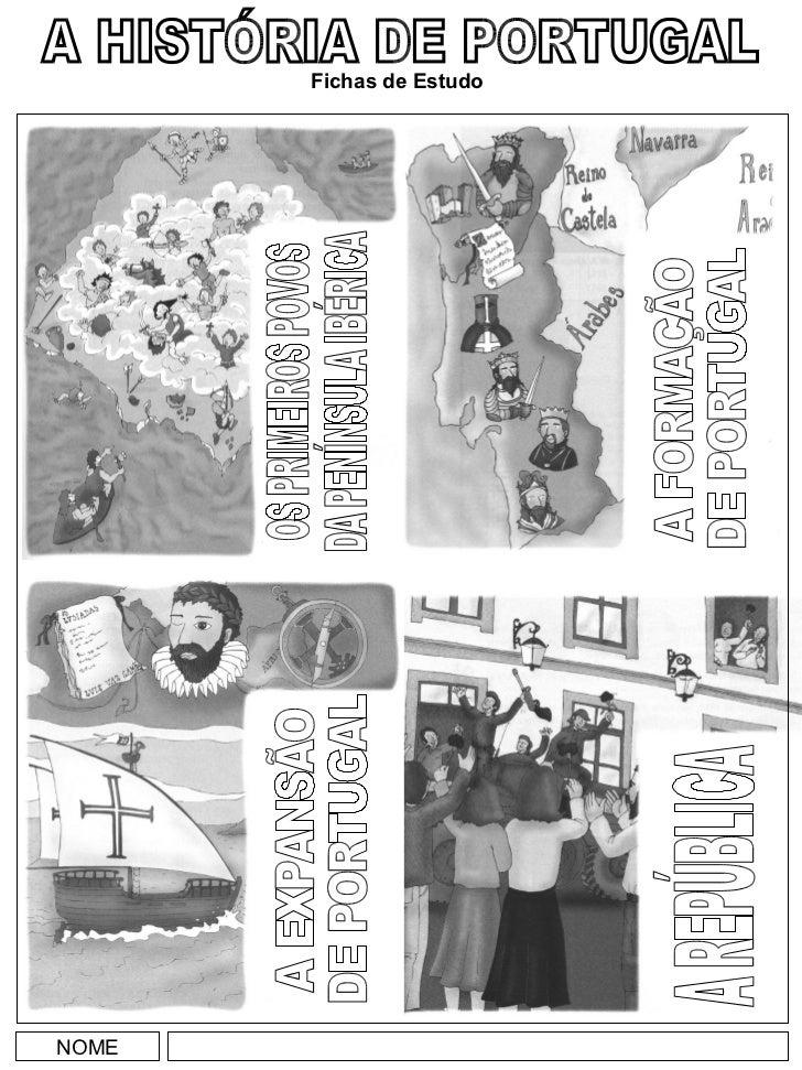 NOME A HISTÓRIA DE PORTUGAL Fichas de Estudo OS PRIMEIROS POVOS DA PENÍNSULA IBÉRICA A FORMAÇÃO DE PORTUGAL A EXPANSÃO DE ...