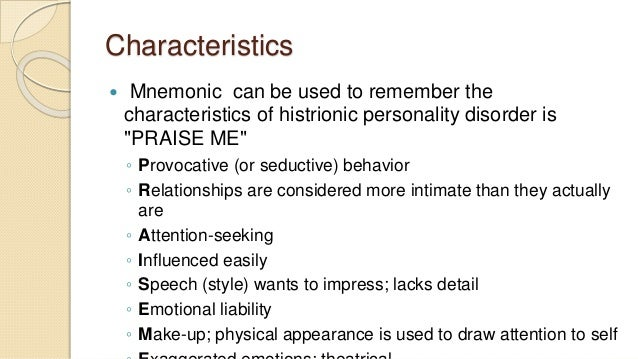 from hysteric personality to histrionic personality