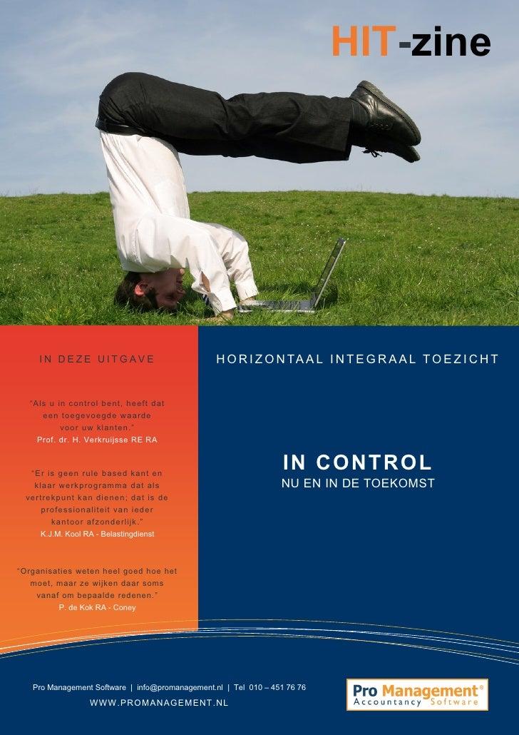 HIT-zine #2, het e-magazine over horizontaal toezicht | In Control, nu en in de toekomst