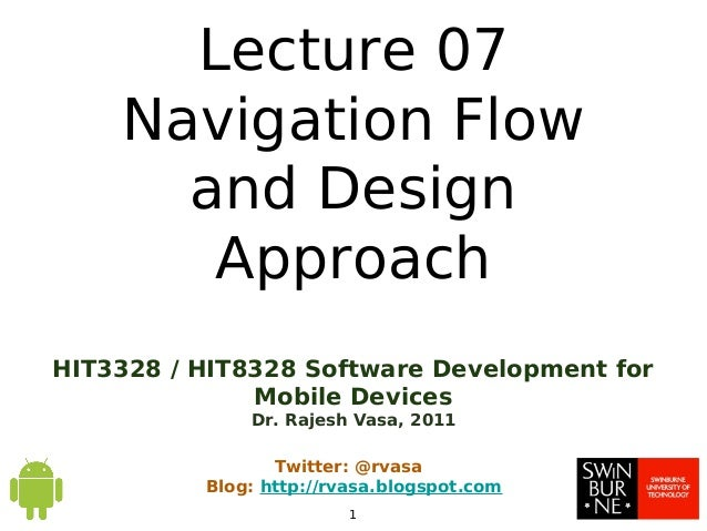 HIT3328 - Chapter0702 - Navigation Flow and Design Approach