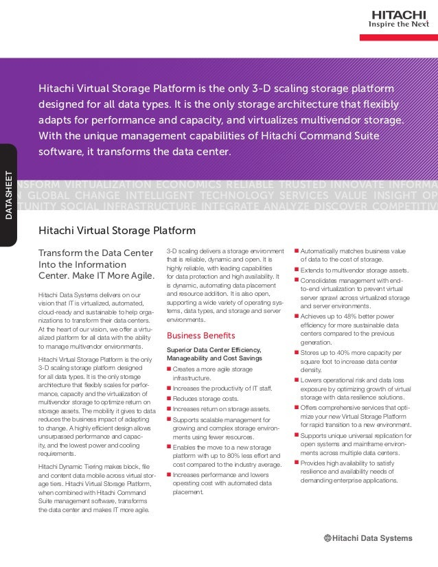 Virtual Storage Platform Datasheet