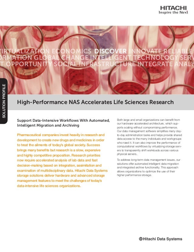 Hitachi high-performance-accelerates-life-sciences-research