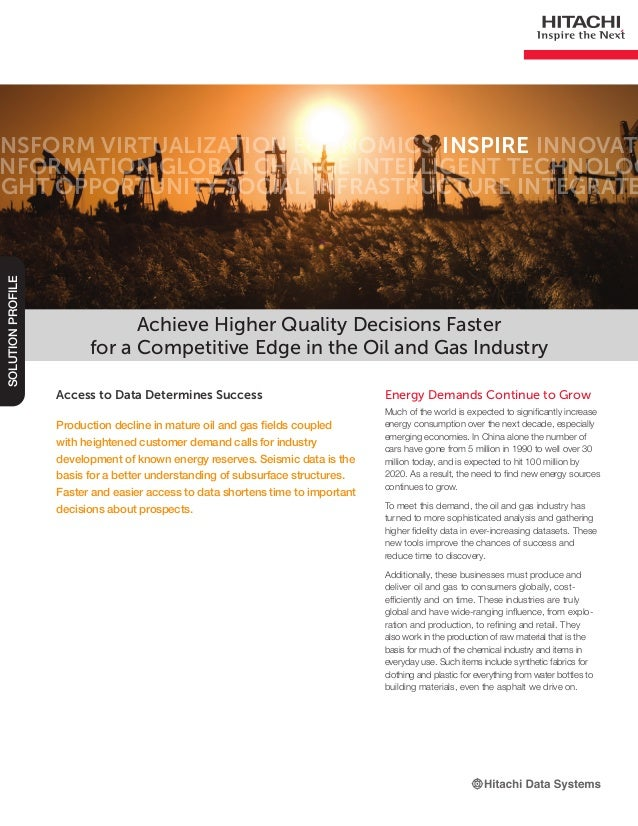 Achieve Higher Quality Decisions Faster for a Competitive Edge in the Oil and Gas Industry -- Solution Profile