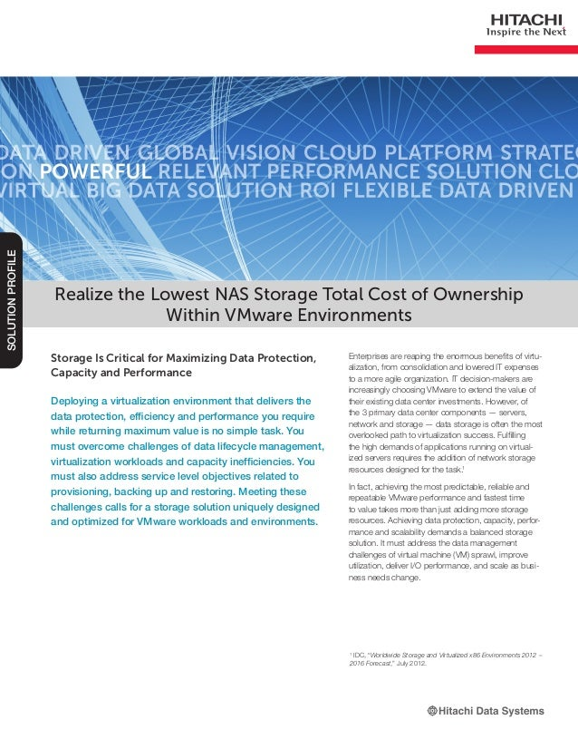 Realize the Lowest NAS Storage Total Cost of Ownership Within VMware Environments -- Solution Profile
