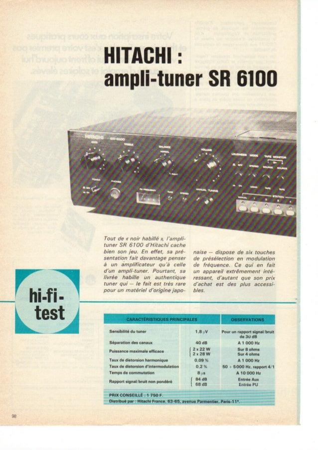 Hitachi sr-6100-test