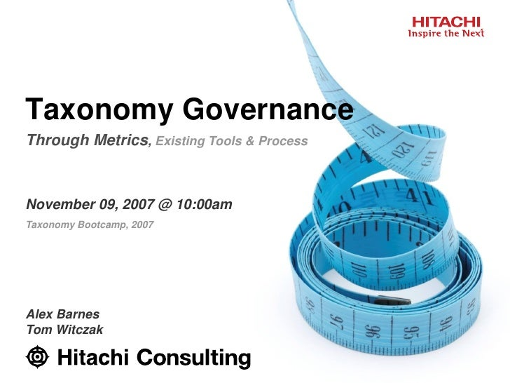 Taxonomy Governance Through Metrics