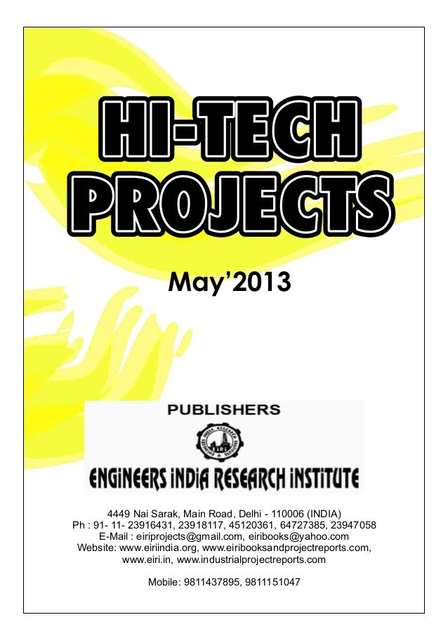 Hi tech projects magazine may'2013