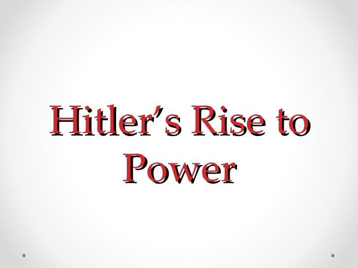 Hitler's Rise to Power