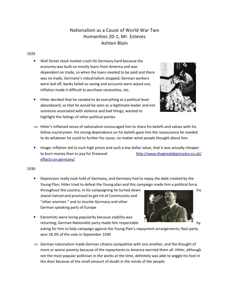 essays on nationalism in world war 1 Open document below is an essay on world war one nationalism from anti essays, your source for research papers, essays, and term paper examples.